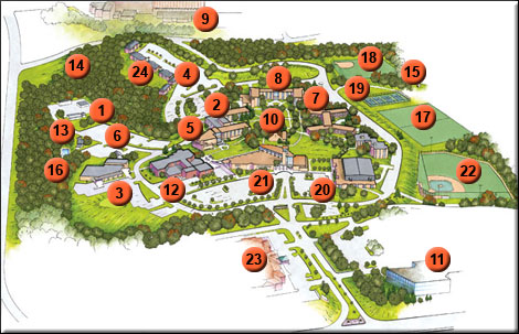 monsanto chesterfield campus map 34 Maryville University Campus Map monsanto chesterfield campus map